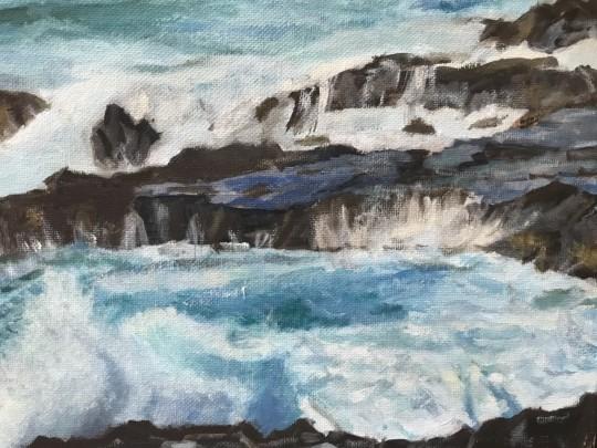 Kauai Rocks and waves