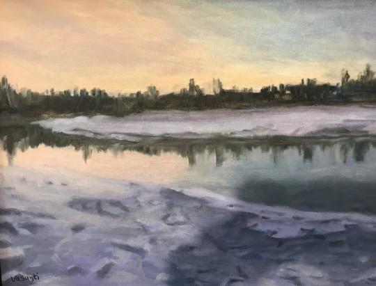 Alaska winter evening
