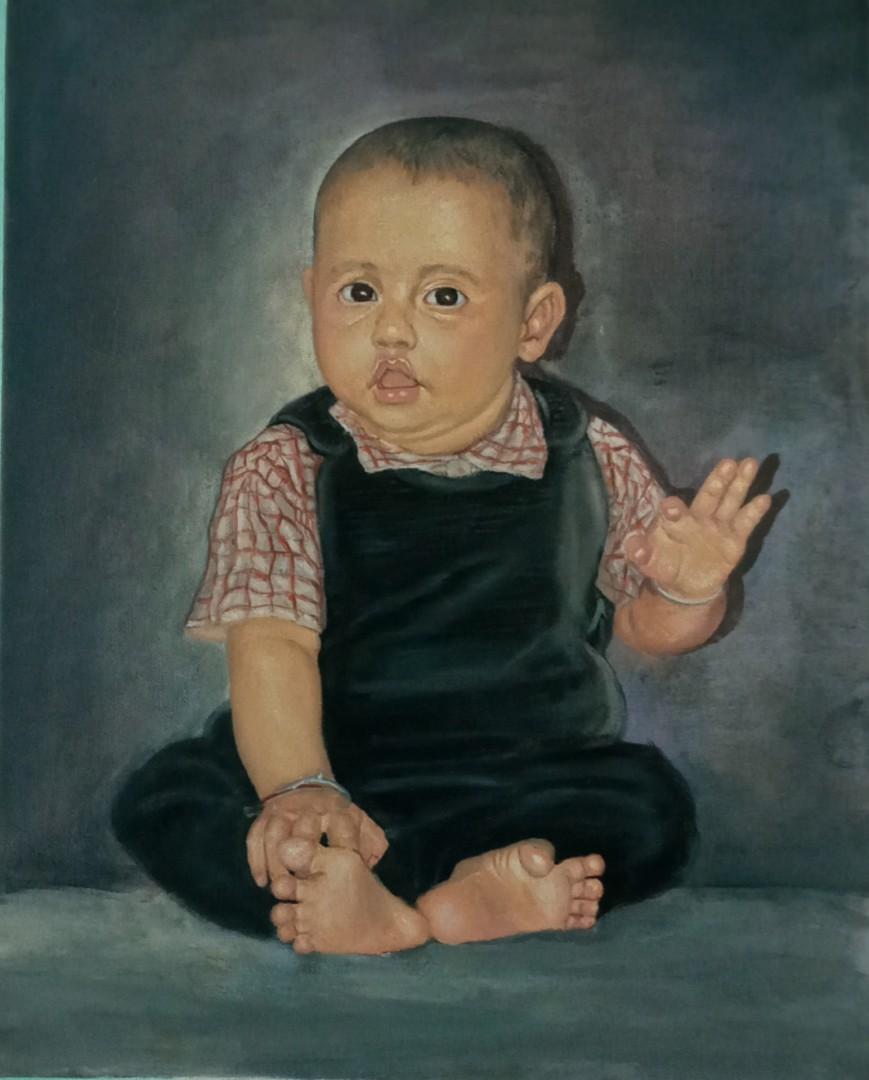 Baby - artwork by Sarjan Dhakal: