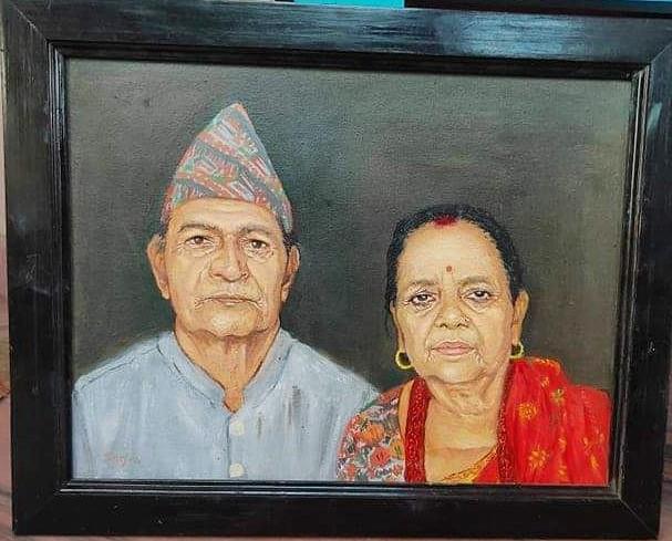Untitled - artwork by Sarjan Dhakal:  Portraits,