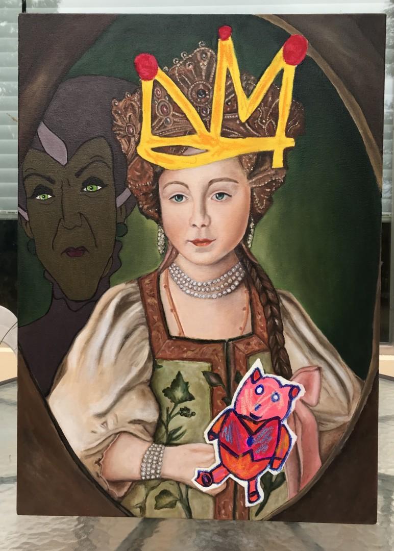 Mother Said So - artwork by Sofia Garza:  Children, Modern, Oil, Canvas