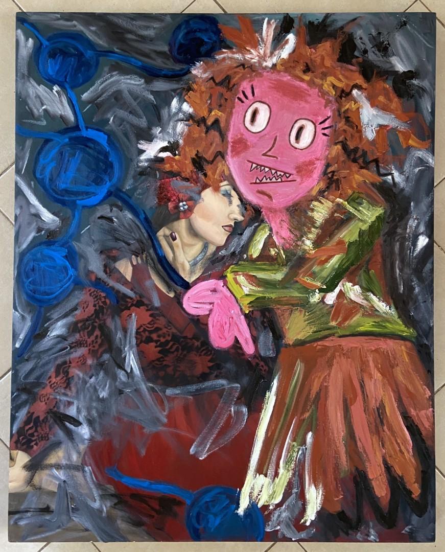 Girl Powerrr  - artwork by Sofia Garza:  Portraits, Modern, Oil,