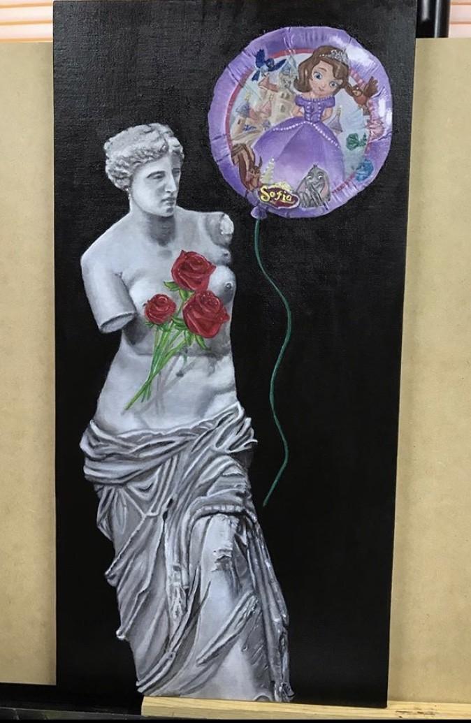 Venus de Sofia  - artwork by Sofia Garza:  Portraits, Modern, Oil, Wood Panel