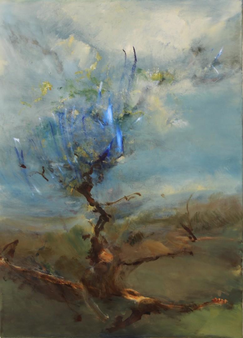 Tree of life - artwork by Óscar Isaias Contreras Rojas:  Botanical, Expressionism, Oil, Canvas