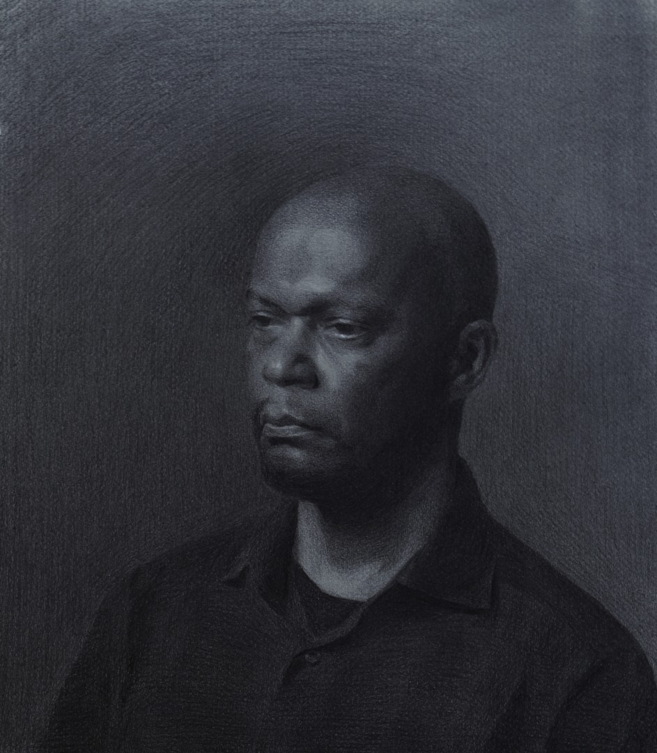 Russell - artwork by miriam baranov:  Portraits, Classical, Charcoal, Paper
