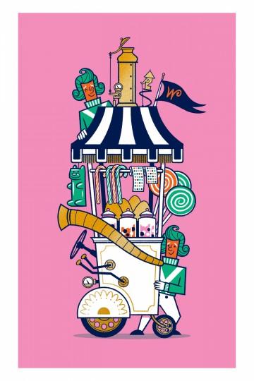 Wonka Candy Cart