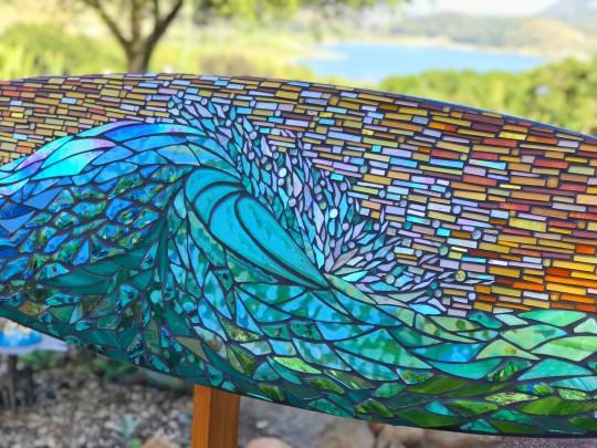 Wave Ride Mosaic Surfboard