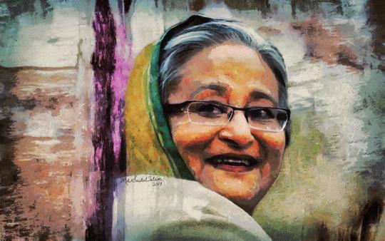 Sheikh Hasina - Beacon of Hope  by Artist Saidul Islam