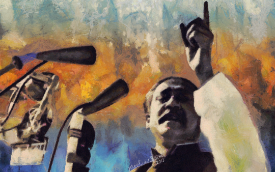 Sheikh Mujibur Rahman - 7th March Speech by Artist Saidul Islam