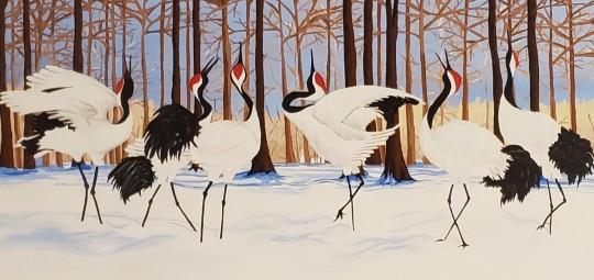 Gramma's Japanese Cranes