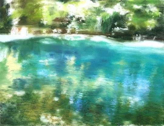 Bule green river