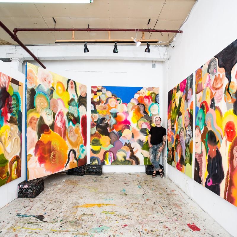 Aaron Johnson Artist Studio View