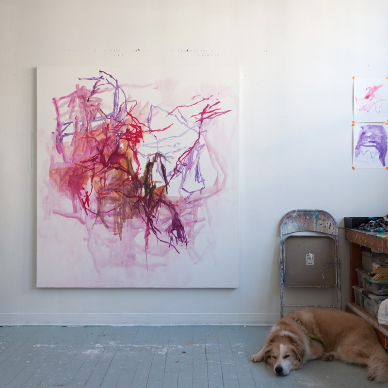 Elizabeth Gilfilen Artist Studio View
