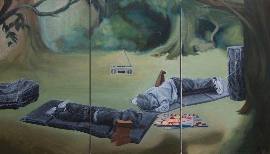 Artwork – Naptime (Triptych), 2017