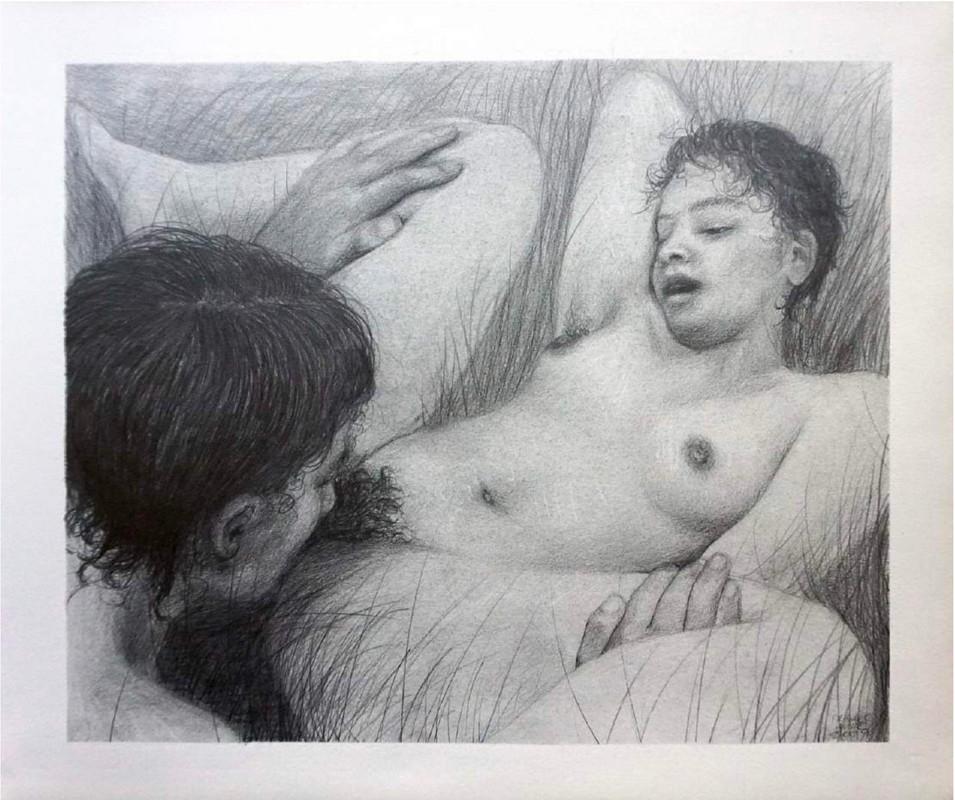 "Artwork – Frances Waite ""Happy but doomed"", 2019"