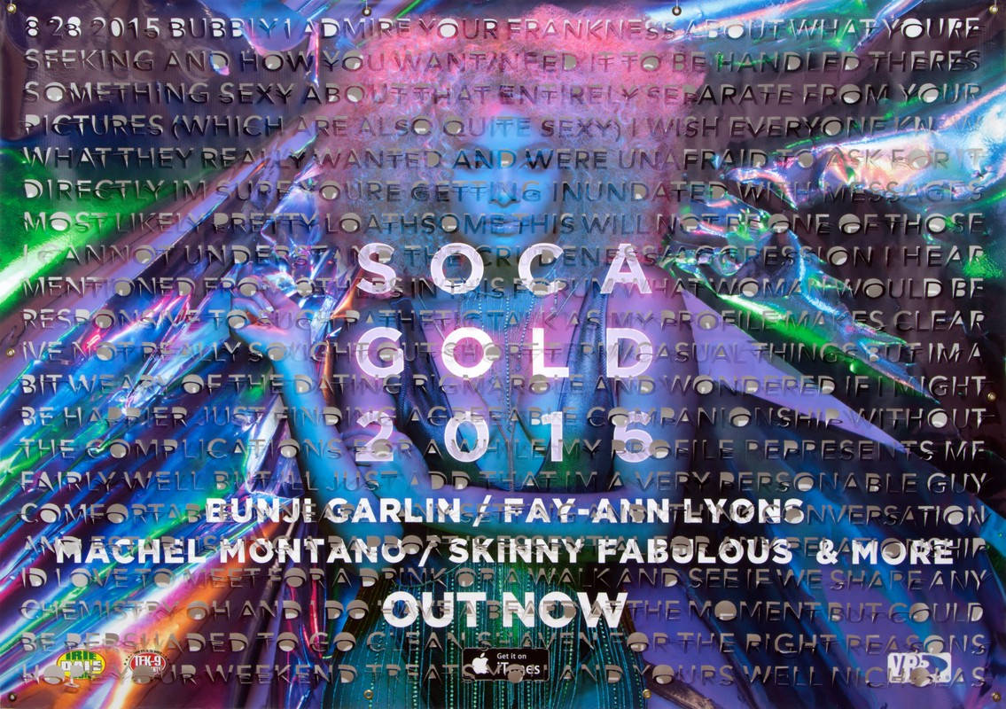 Artwork – Bubbly (Soca Gold), from Left Hanging series, 2017