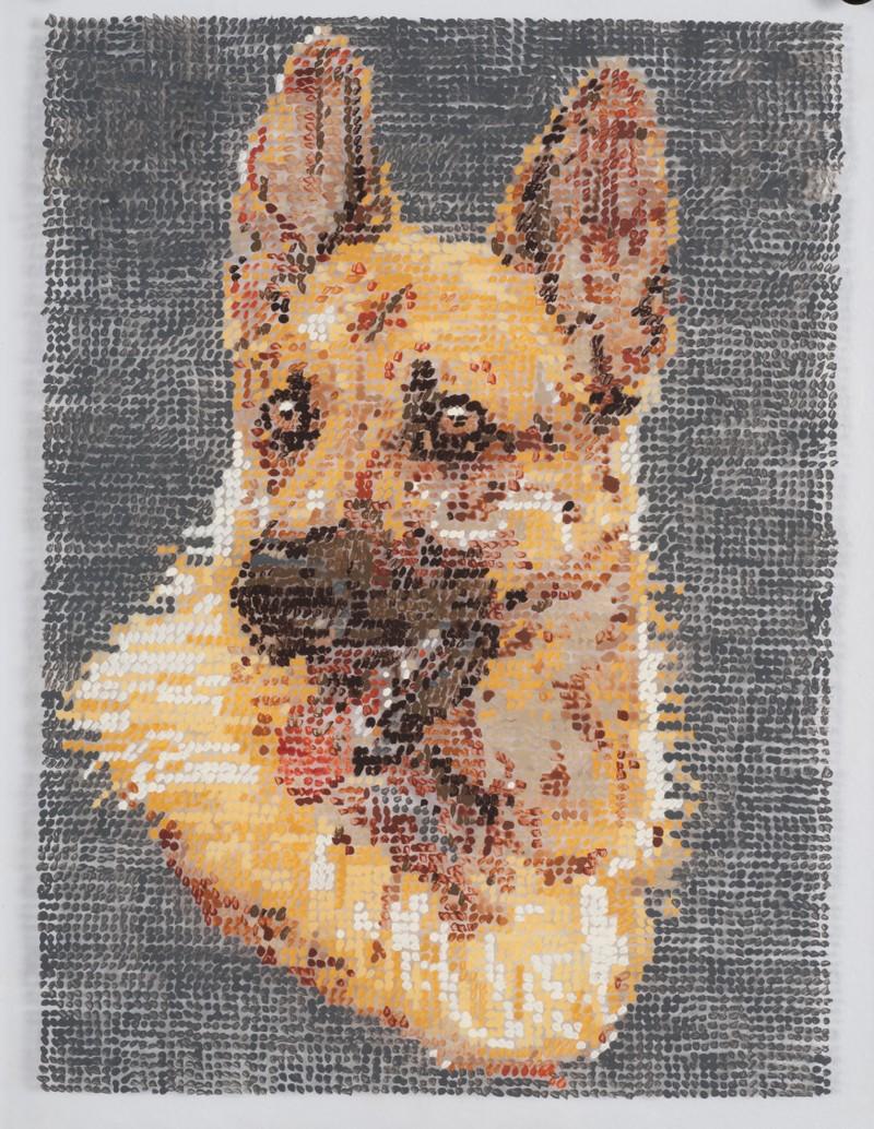 Artwork – After German Shepherd Embroidery, 2017