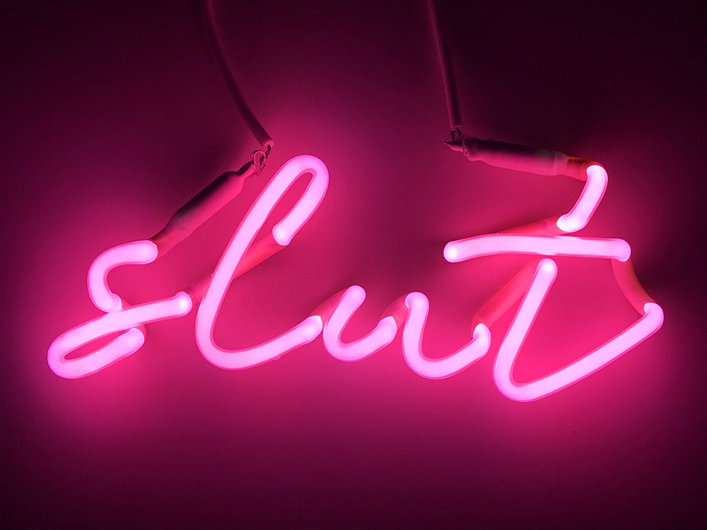 Artwork – slut (pink), 2018