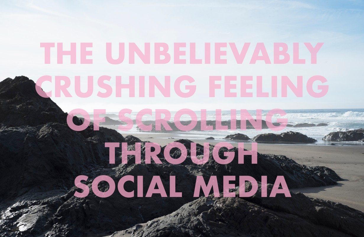 "Artwork – Emily Hoerdemann // ""THE UNBELIEVABLY CRUSHING FEELING OF SCROLLING THROUGH SOCIAL MEDIA"", 2018"