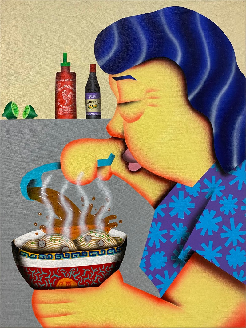 Artwork – Loc Huynh, Mom Making Pho, 2021