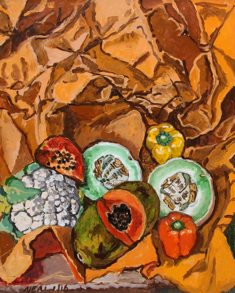 Artwork – Rock melon and papaya, 2016