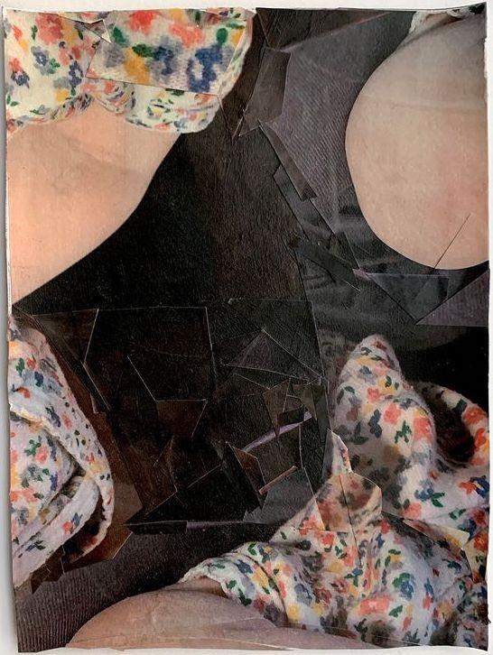 Artwork – TZIREL KAMINETZKY  :  Domestic Material : Flower Shirt (space around it), 2020
