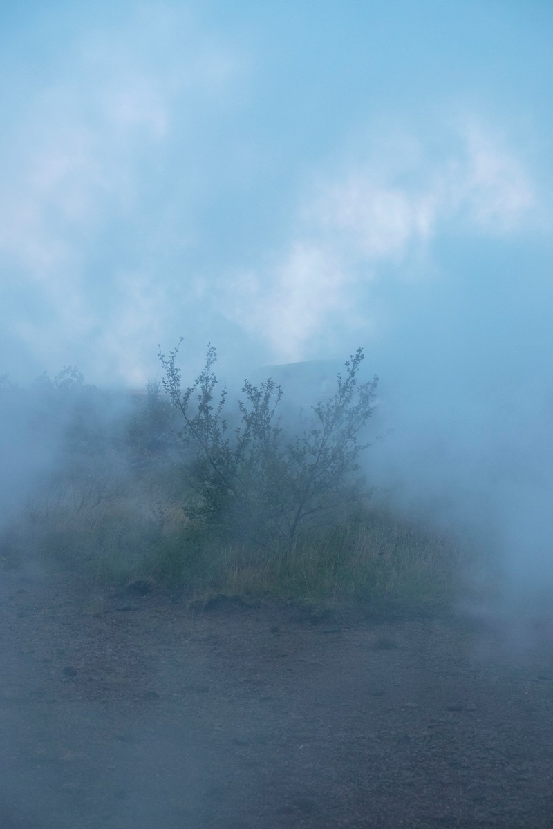 Artwork – Blue Smoke #1 (University of Iceland, Hveragerði), 2017