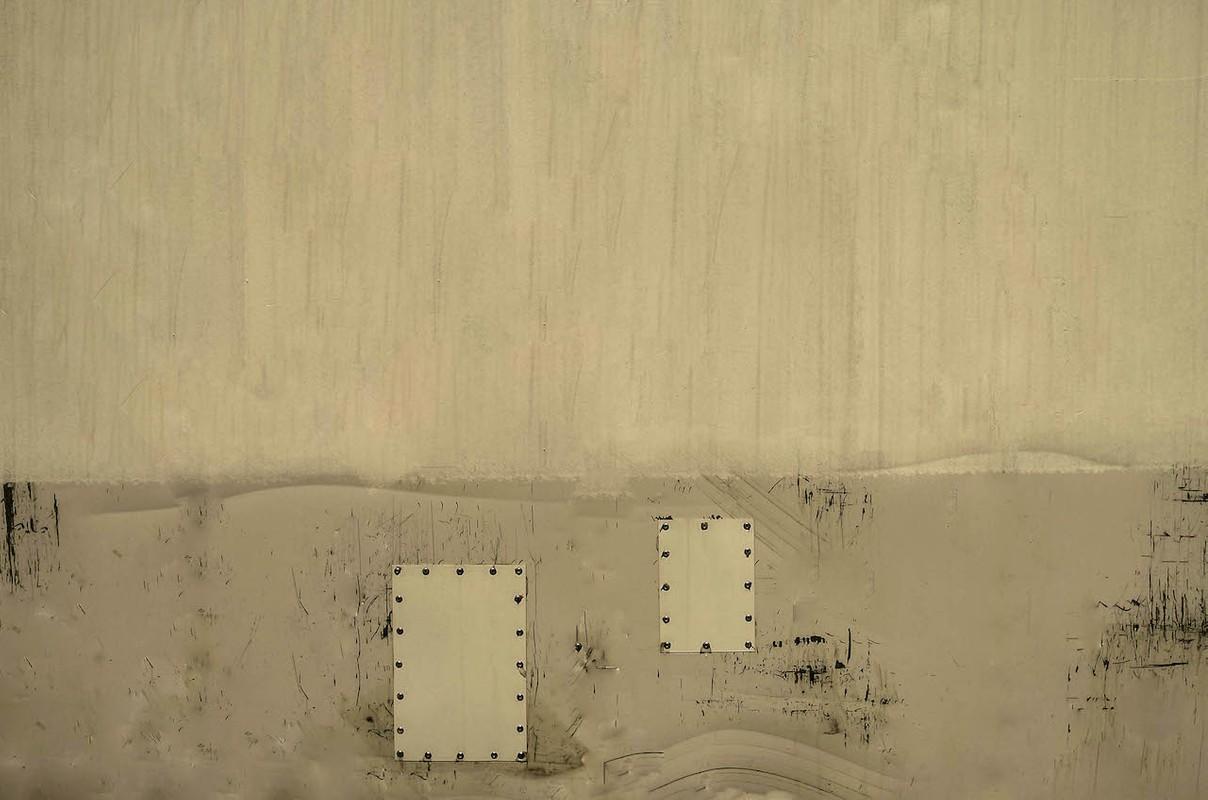 Artwork – Two White Rectangles on Grey & White (Reykjavik), 2015