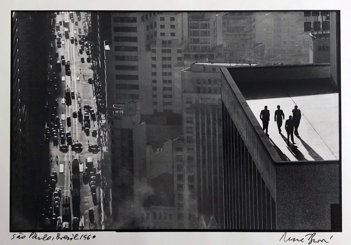 "Artwork – Rene Burri, ""Men on a Rooftop, Sao Paolo"", 1960"