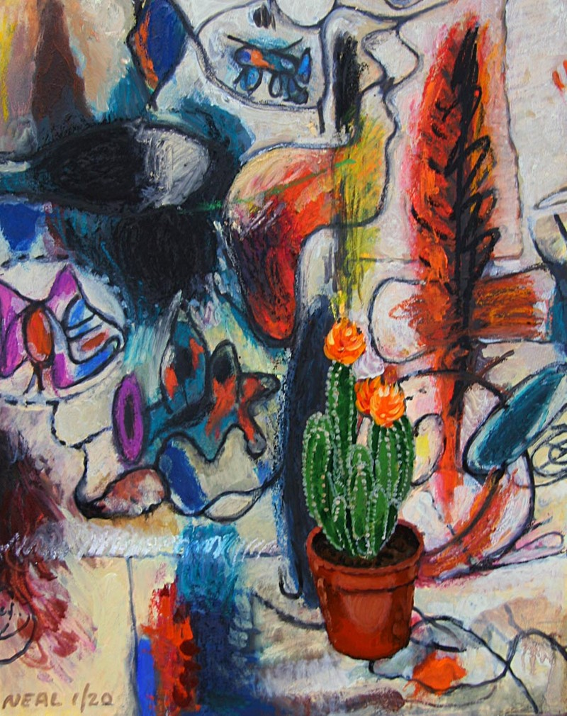 Artwork – Gorky with cactus, 2020