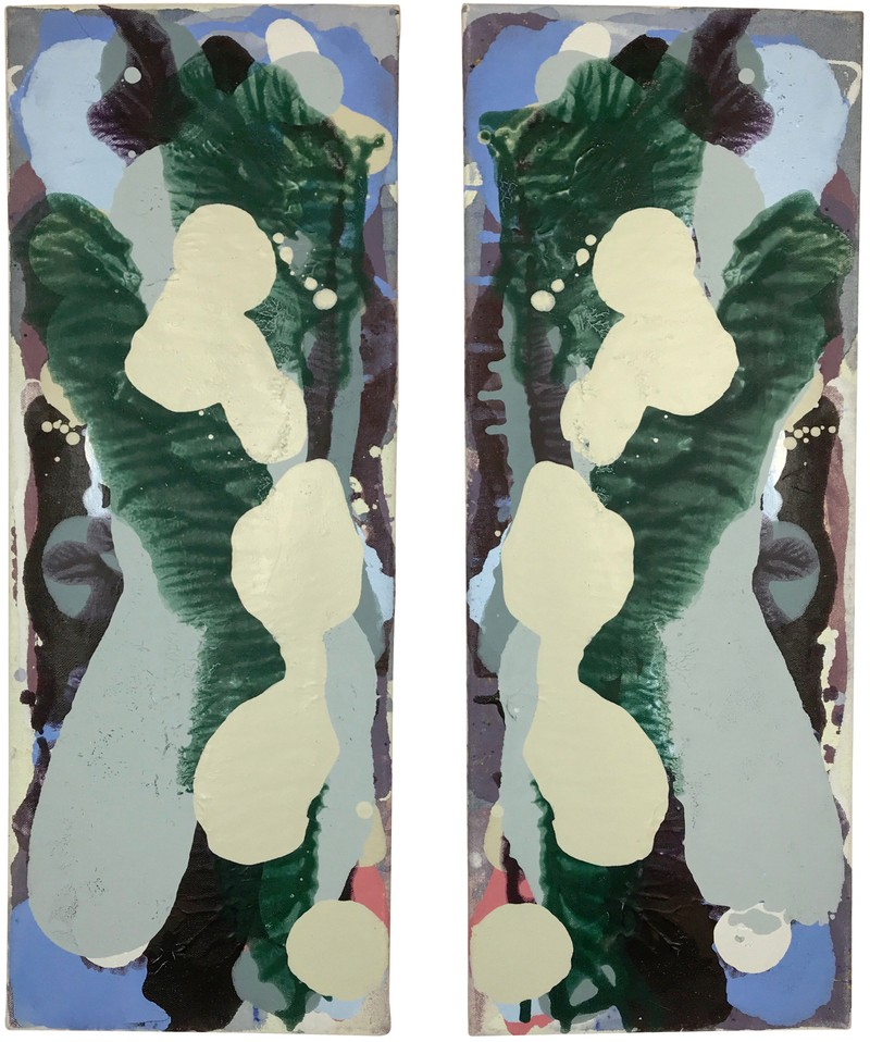 """Artwork – """"Untitled"""" diptych (Cool Series) #2, 2018"""