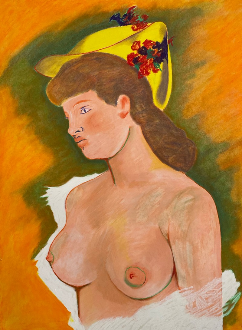 Artwork – Blonde Woman with Naked Breasts, 2021