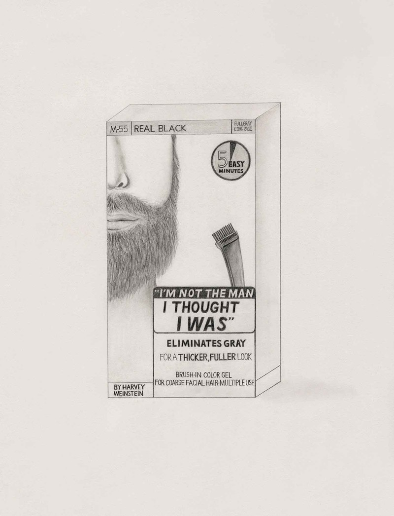 "Artwork – ""I'm Not the Man I Thought I Was"" Hair Color by Harvey Weinstein, Producer (Just for Men Moustache & Beard), 2018"