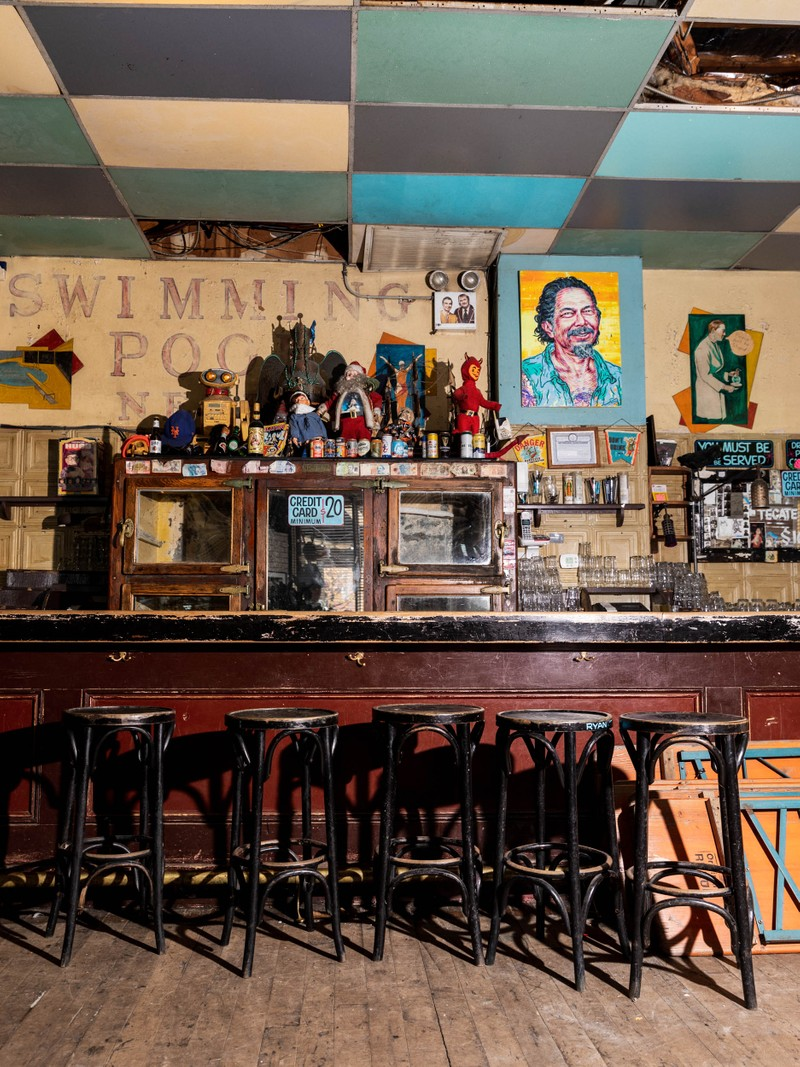 """Artwork – Bar Stools from the series """"The Lost Happy Hours"""", 2020"""