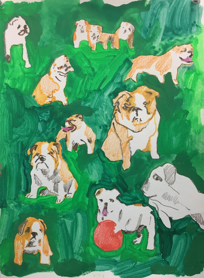 Artwork – SARAH COOTE  :  Study for a Dog Park, 2020