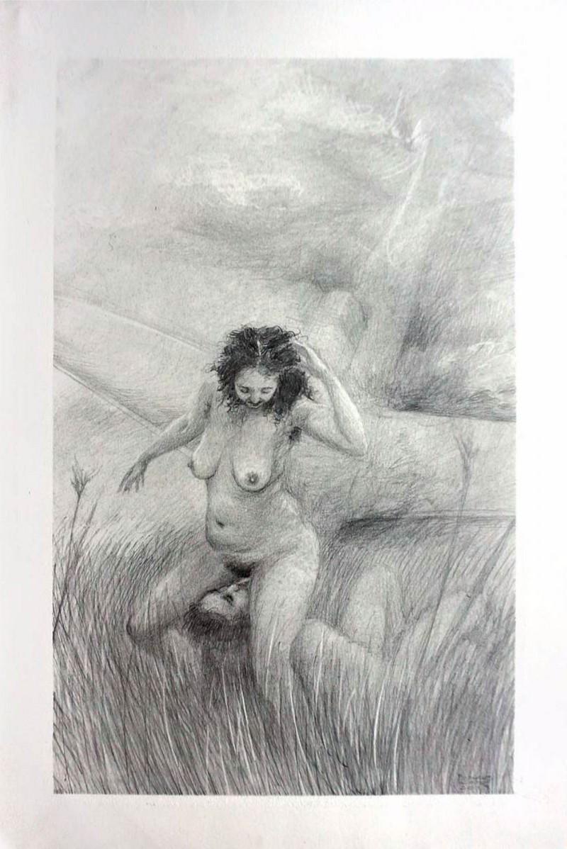 "Artwork – Frances Waite ""J.G. Ballard is quivering"", 2019"