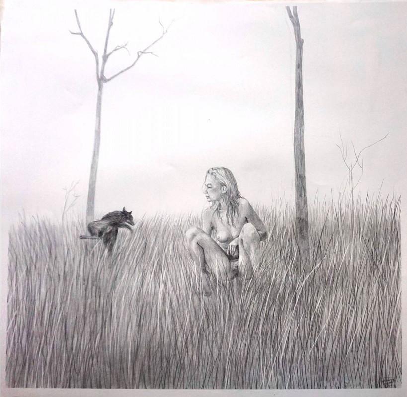 "Artwork – Frances Waite, ""Pretty moms, peeing"", 2019"