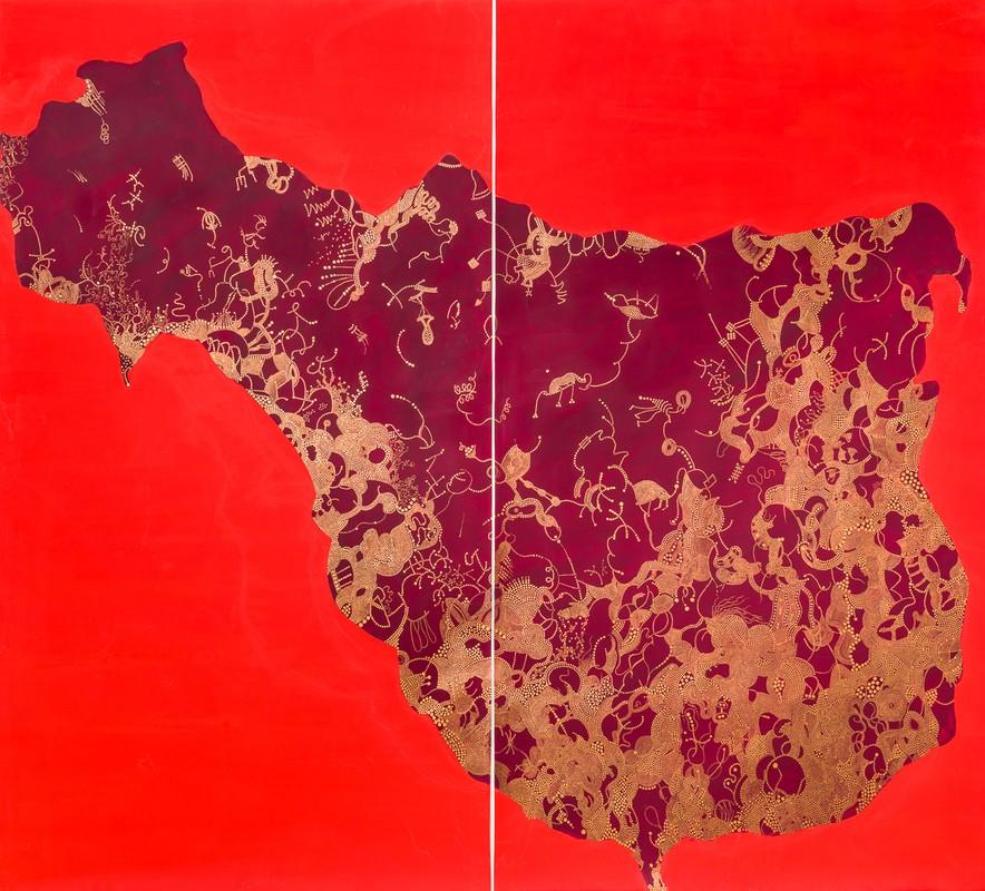 Artwork – Altered States (vermilion), diptych, 2018