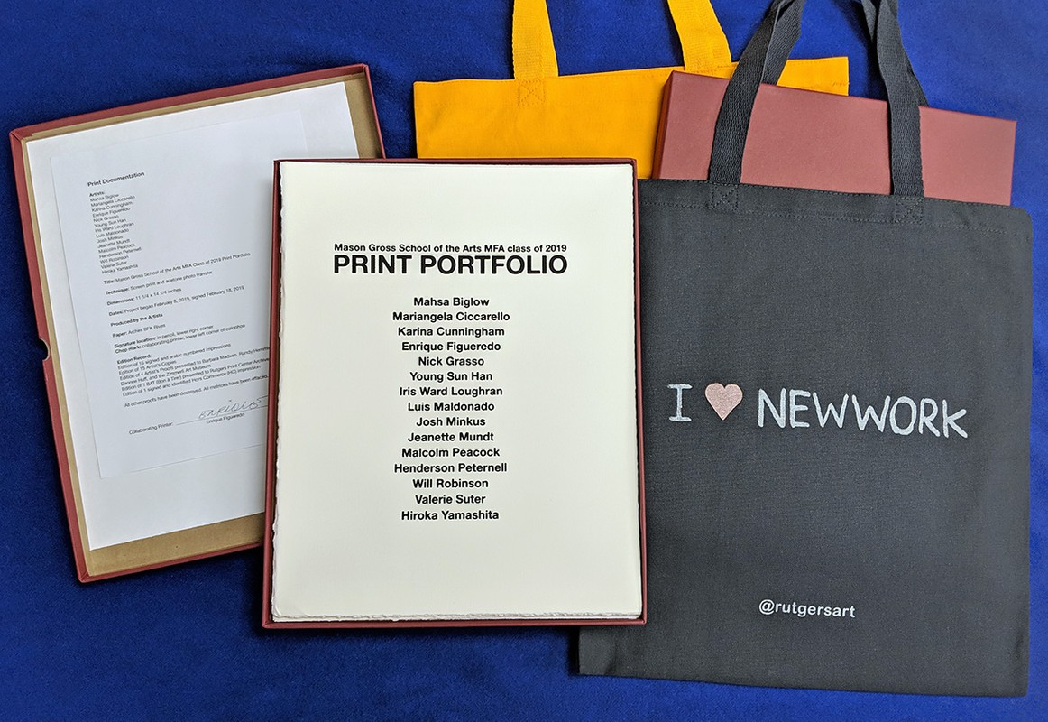 Artwork – Rutgers MFA Class of 2019, Print Portfolio, 2019