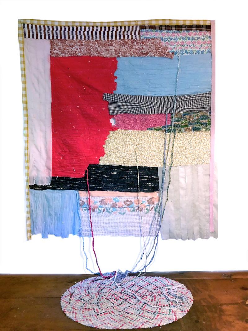 Artwork – Wearing: Yardage, Garden with Red, 2020