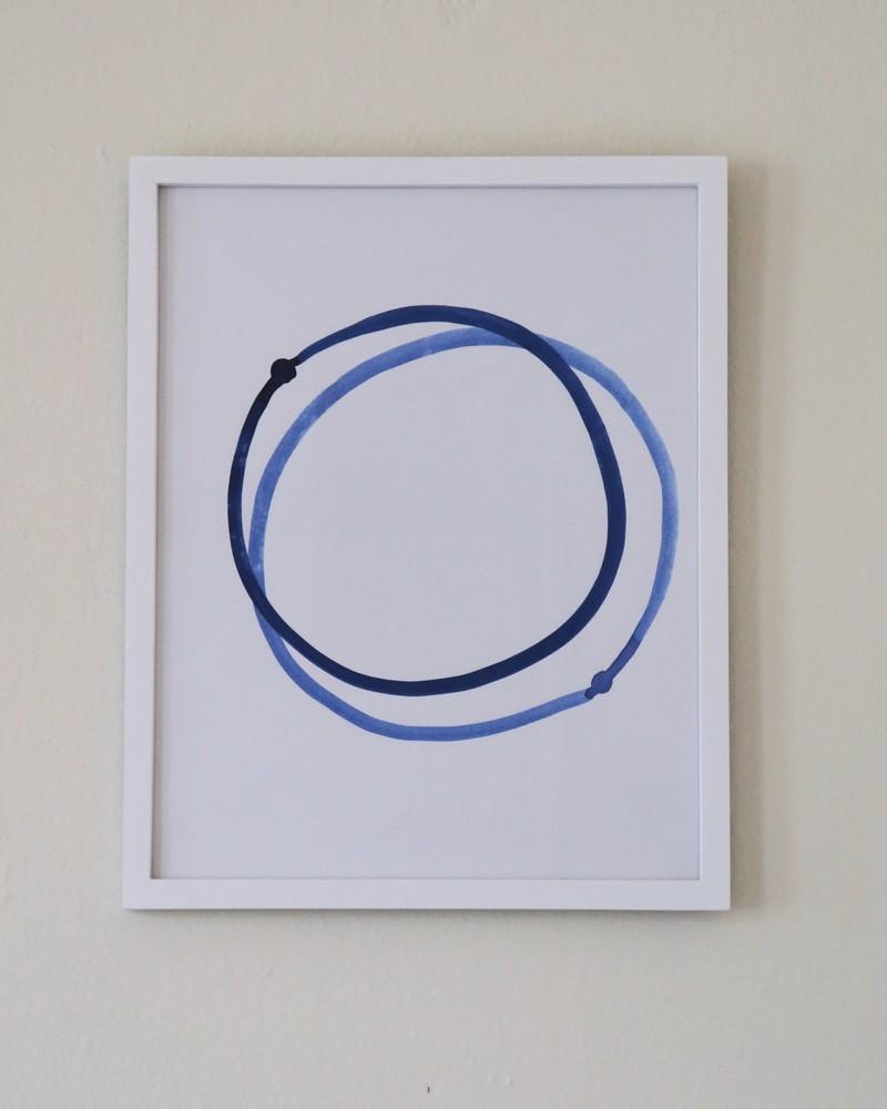 Artwork – Dot Orbits Blue / Points orbites bleus, 2018