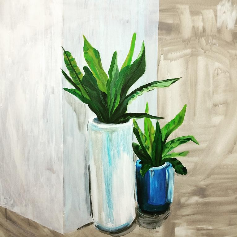 Artwork – White Vase Blue Vase, 2015