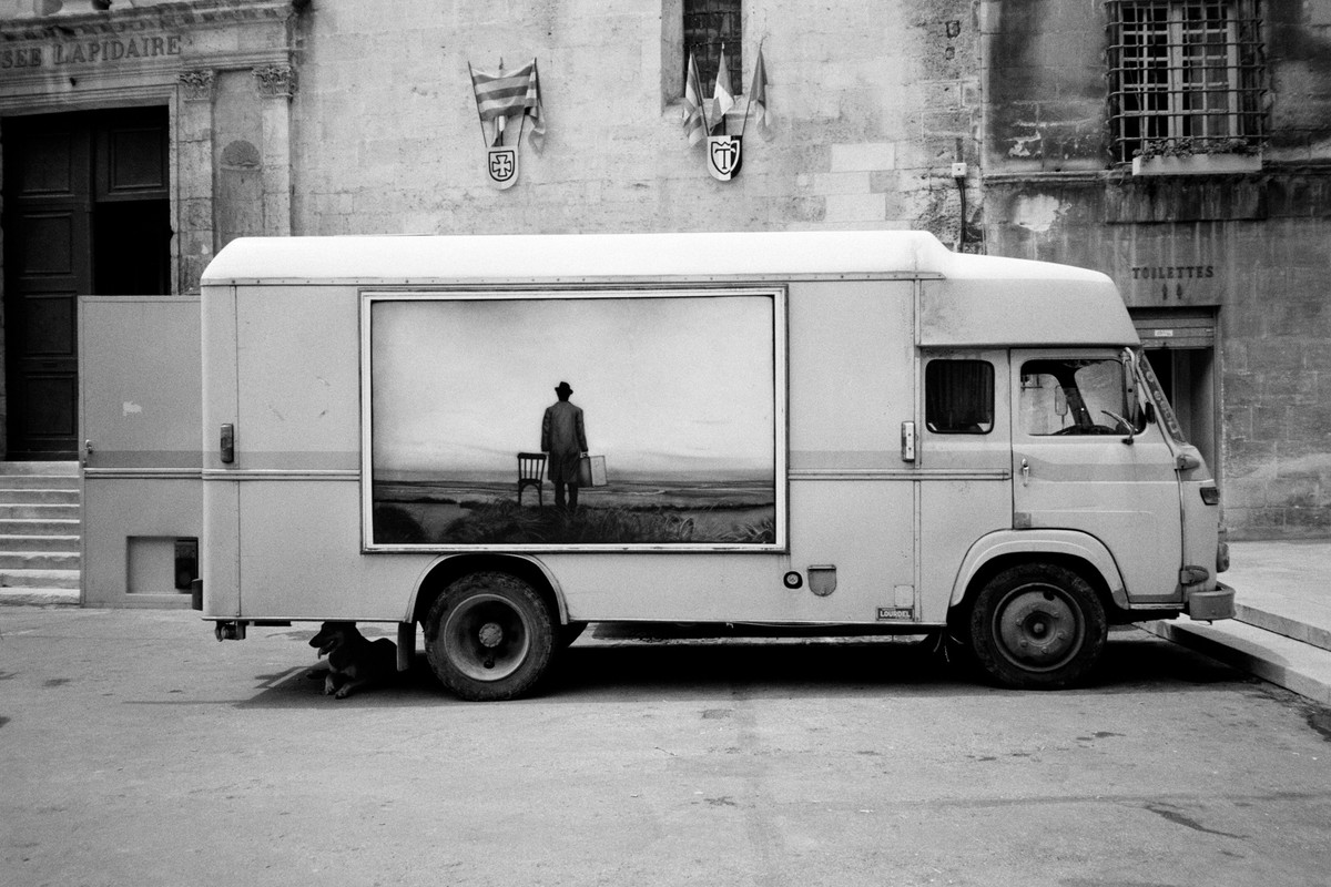 "Artwork – Felicia Murray, ""Painted Truck, Place de la Republique, Arles"", 2019"