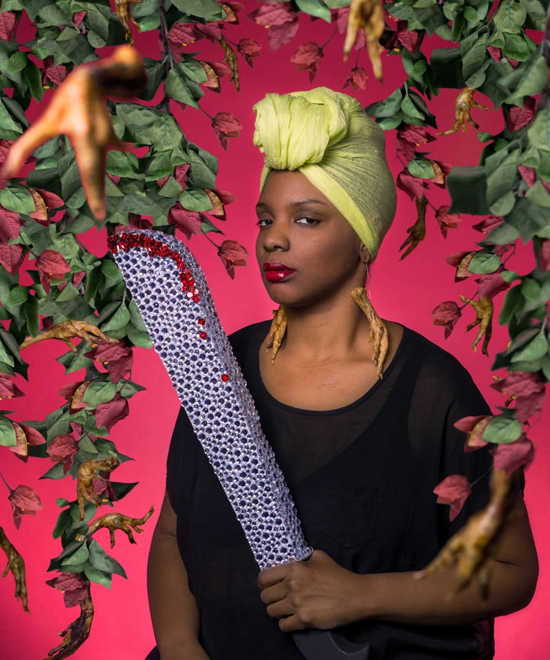 "Artwork – Tiffany Smith - ""Haitian Woman From Miami With Machete"", 2015"