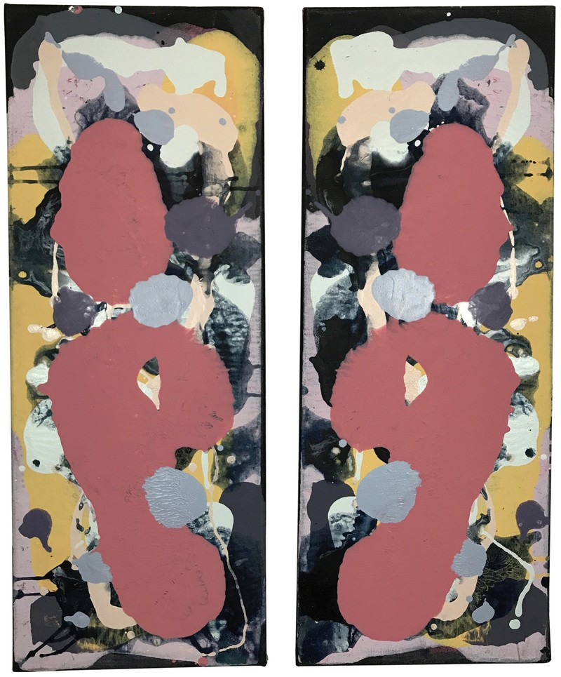 """Artwork – """"Untitled"""" diptych (Cool Series) #1, 2018"""