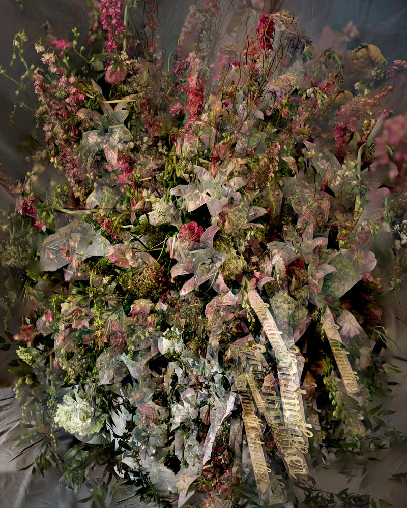 Artwork – Grandma's Funeral Flowers (65 Images, Focus Stack), 2017