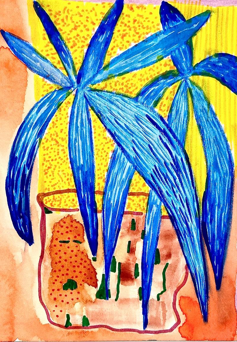 Artwork – Untitled (Blue Flowers), 2020