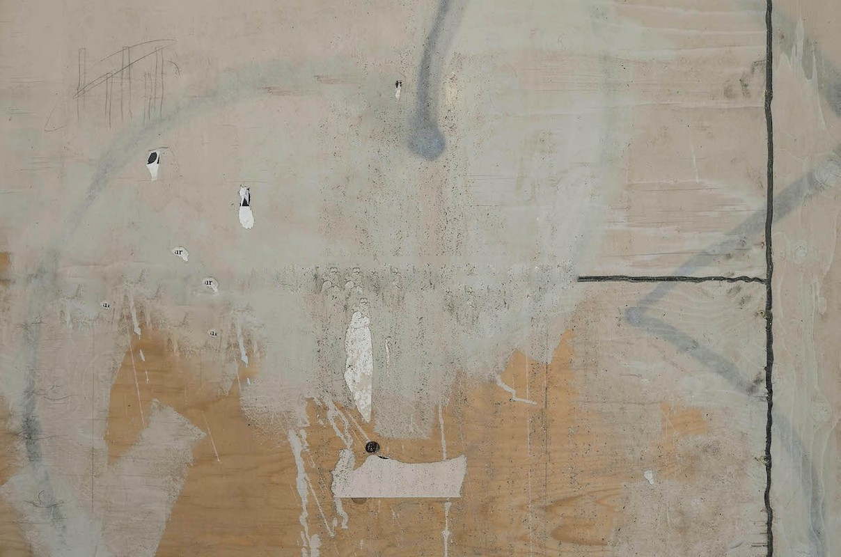 Artwork – Composition in Grey & Tan w/ Black Structure, 2015