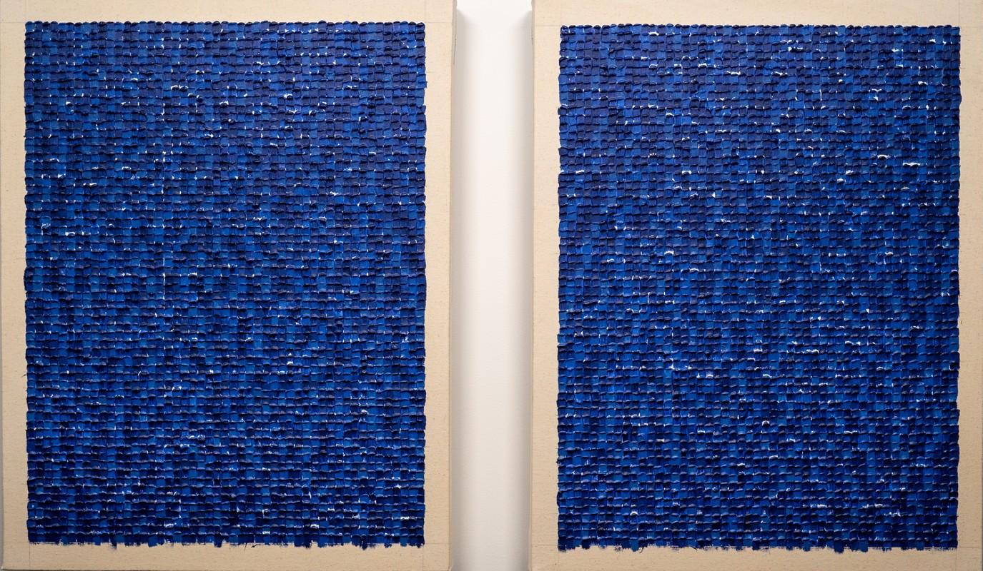 Artwork – Mirror Grid 1 (Blues), 2019