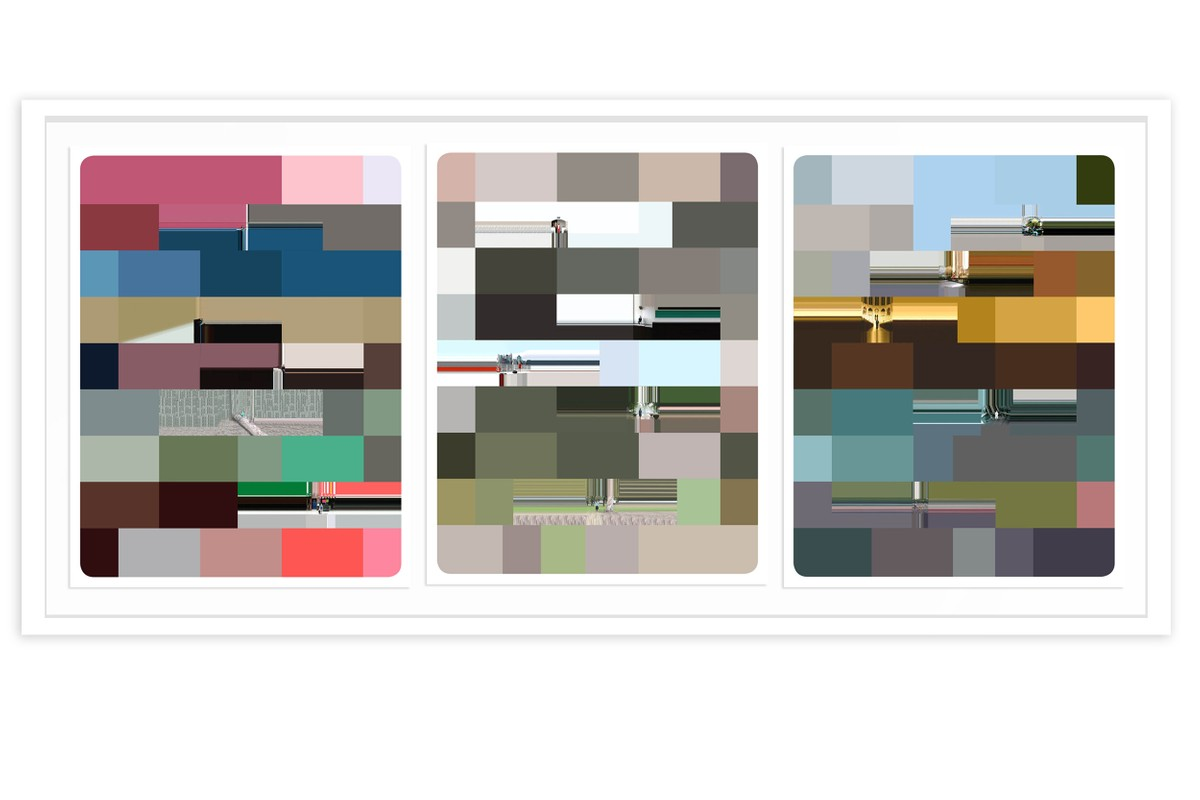 Artwork – Abstract range composition #1, #2, and #3, New York and Argentina (triptych), 2007